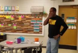 VEJA VÍDEO: Crianças aprendem linguagem de sinais para prestar homenagem a zelador de escola em aniversário