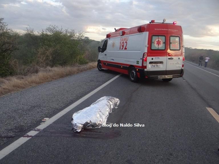 ACIDENTE SB 4 - Homem morre ao cair de caminhonete na BR-230, em Pombal