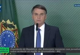 VEJA VÍDEO: Presidente Bolsonaro anuncia primeiras medidas para conter danos em Brumadinho