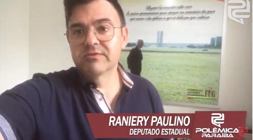 RANIERY PAULINO - VEJA VÍDEO: Raniery Paulino revela que bancada de oposição está unida na ALPB e espera ocupar espaços na Mesa Diretora