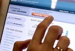 PRAZO: Sisu encerra inscrições nesta sexta-feira (7); PB tem 4,7 mil vagas