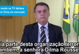 Dilma desmente fake news de Bolsonaro dita em entrevista à TV italiana