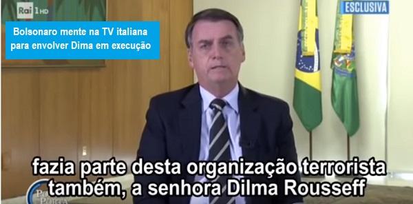 bolsorai - Dilma desmente fake news de Bolsonaro dita em entrevista à TV italiana