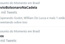#FlavioBolsonaroNaCadeia está em primeiro nos TT's no Brasil