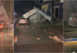 VEJA VÍDEOS: Chuvas e ventos fortes causaram destruição no sertão da Paraíba