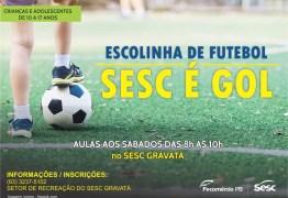 Estão abertas as inscrições para Escolinha de Futebol do Sesc