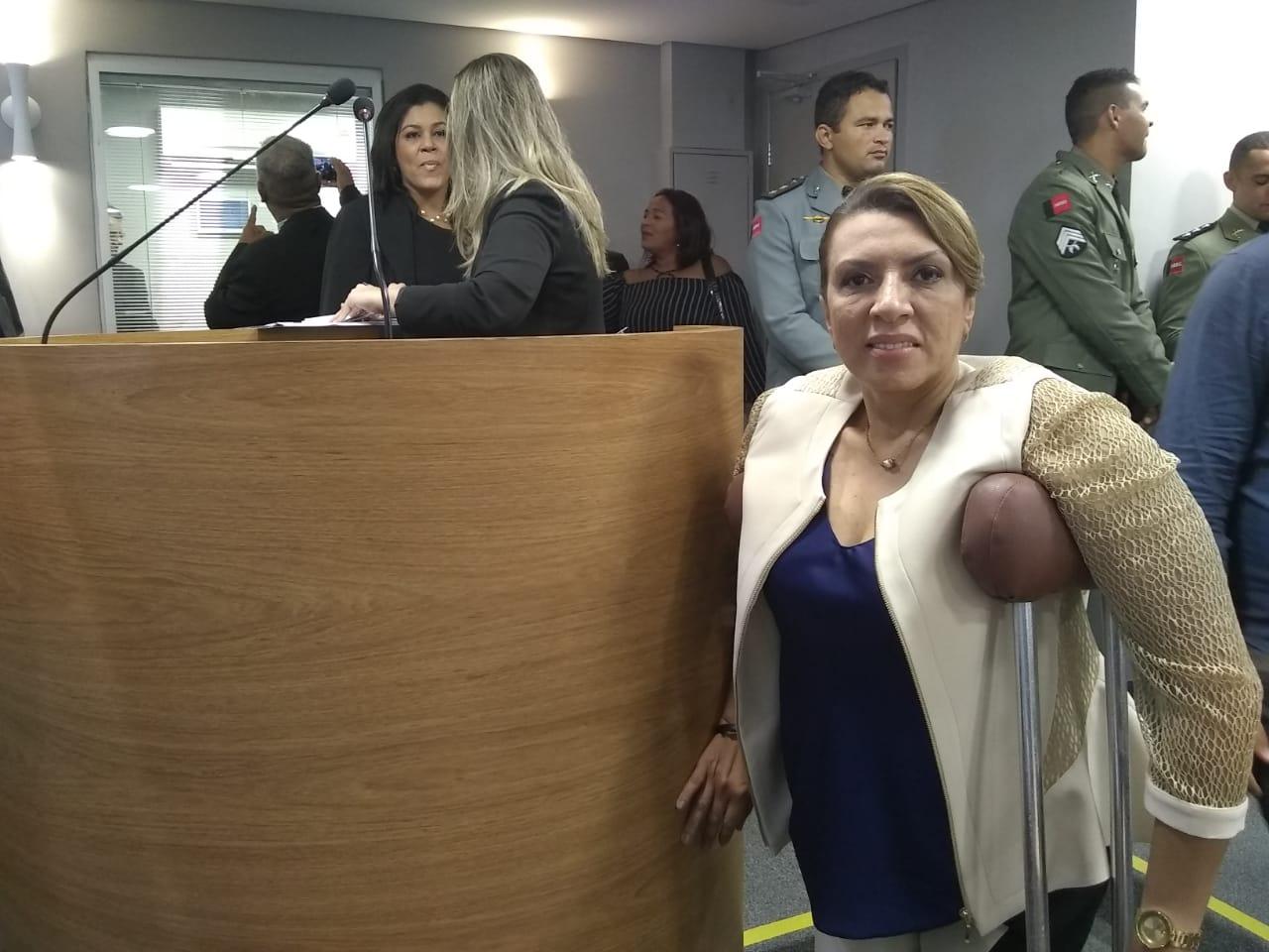WhatsApp Image 2019 02 01 at 10.50.16 AM - 'Casa onde as leis de acessibilidade foram feitas não é acessível': Cida Ramos critica plenário e diz que serão necessárias reformas para permitir acesso - OUÇA