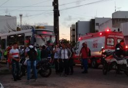 Motociclista morre em colisão com ônibus em João Pessoa – VEJA AS IMAGENS