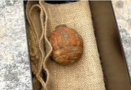 Granada da Primeira Guerra é confundida com batata e enviada à fábrica em Hong Kong