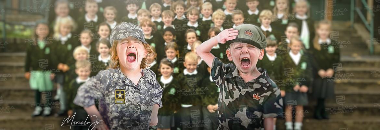 montagem398 - 'Que as crianças cantem livres!', só que provavelmente não, segundo o MEC! - Por Francisco Airton
