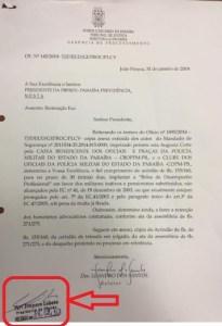 pbprevbolsaassinatura 205x300 - Presidente da PBPrev assina ofício para implantação de Bolsa Desempenho em contra-cheques de policiais
