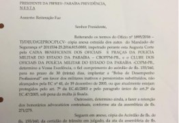 Presidente da PBPrev assina ofício para implantação de Bolsa Desempenho em contra-cheques de policiais