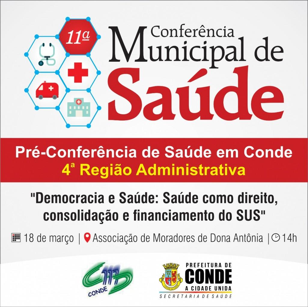Pré Conferência Municipal de Saúde 2 - Conselho Municipal de Saúde de Conde inicia pré-conferências para a 11º Conferência Municipal de Saúde