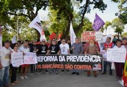 NA PARAÍBA: Bancários vão às ruas contra a Reforma Da Previdência