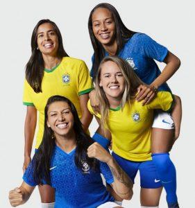 cbf e1552328389366 281x300 - Fornecedora de material esportivo lança camisa da seleção feminina para a Copa do Mundo