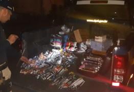 PRF apreende grande quantidade de produtos contrabandeados do Paraguai