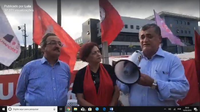 lula visita e1552607611115 - Para vencer a reforma da Previdência é preciso unidade e aliança com o povo, avisa Lula