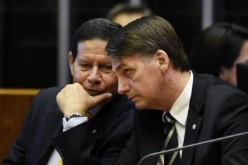 mourao bolsonaro 600x397 - 'MARCANDO TERRITÓRIO' - Bolsonaro sobe o tom contra Mourão: 'O presidente sou eu'