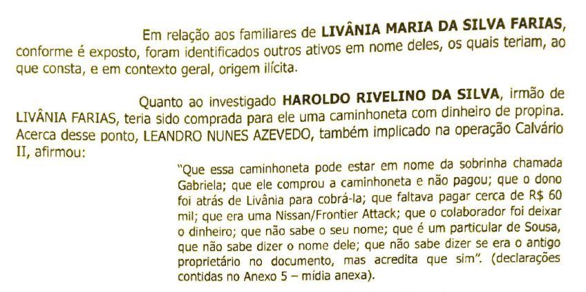 pag 2 mandado - OPERAÇÃO CALVÁRIO: Gaeco mira em parentes de Livânia Farias, em Sousa; bens móveis e imóveis teriam sido adquiridos com propina