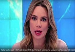 Rachel Sheherazade pode trocar SBT por CNN; rescisão prevê multa milionária