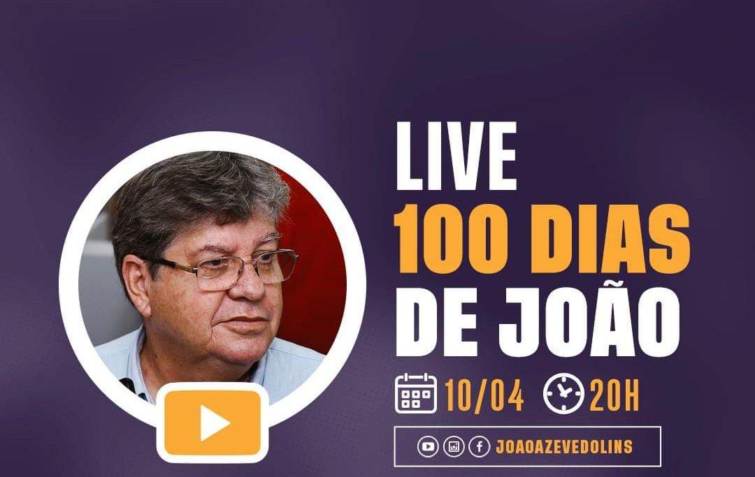 534e6a0a f3aa 4d86 bf89 27c22656e5cd e1554849265750 - CEM DIAS DE JOÃO AZEVEDO: em comemoração, governador faz live nas redes sociais e responde perguntas de internautas nesta quarta-feira