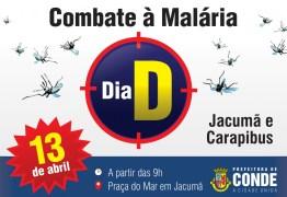 Secretaria de Saúde de Conde intensifica ações e realiza Dia 'D' contra Malária neste sábado