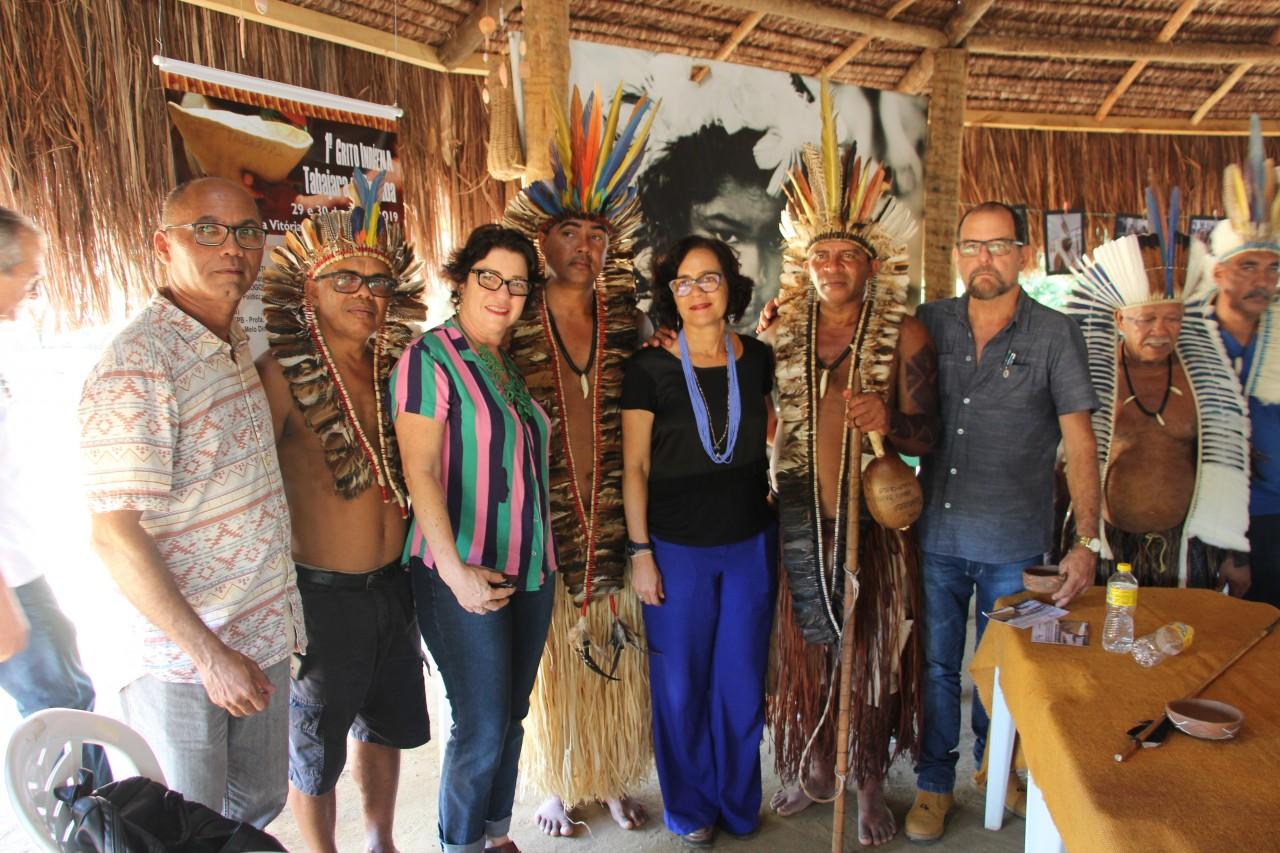 Grito Indígena Tabajara 4 - Prefeita Márcia Lucena discute políticas públicas para a população indígena durante encontro na Aldeia Vitória em Mata da Chica