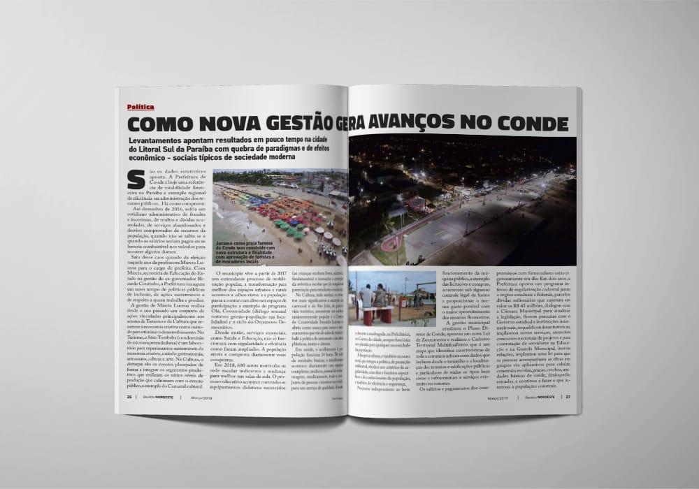 Revista Nordeste Edição de Abril - Avanços na gestão de Conde são destaque na edição de abril da Revista Nordeste