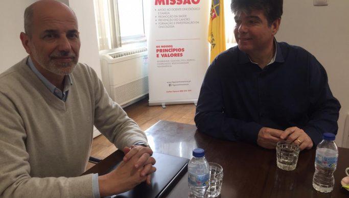 Ruy Carneiro e diretor da liga portuguesa contra o cancro 683x388 - Ruy constrói parceria com entidade portuguesa de apoio aos pacientes de câncer