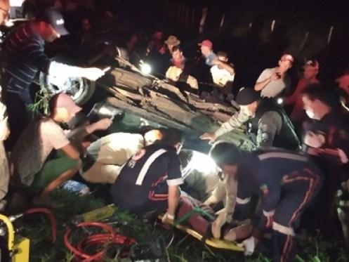 acidente PB 101 300x225 - Duas pessoas morrem em grave acidente na PB-115; uma vítima é resgatada em estado grave
