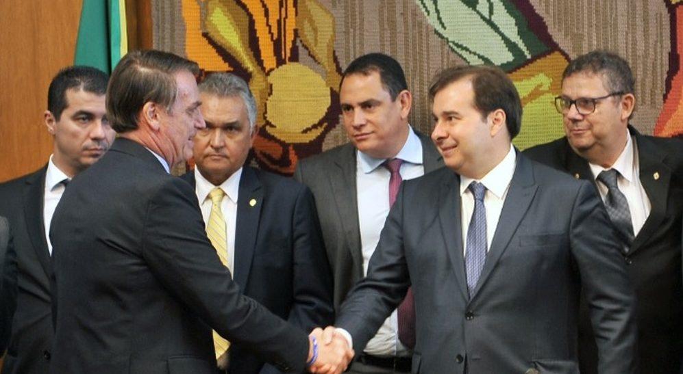 bolsonaro e maia e1554638305464 - Debate sobre reforma tributária causa novo mal-estar entre Câmara e governo