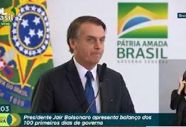 Mar está revolto, mas céu é de brigadeiro, diz Bolsonaro
