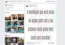 MARCADA PARA MORRER: 'Vai acabar nesta quinta', diz mensagem publicada por homem que se matou após feminicídio, na PB