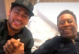 Neymar publica foto ao lado de Pelé em Hospital na França
