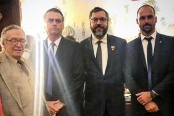 olavo e jair 1 - Bolsonaro compartilha vídeo de Olavo de Carvalho com ataques a militares: 'Entregaram o país ao comunismo'