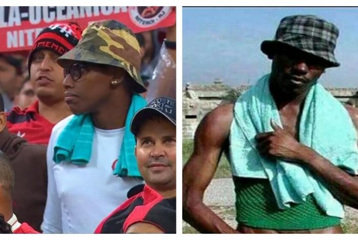 1 negaoooo 11122961 1 - Torcedor do Flamengo vai a jogo vestido de 'Negão do WhatsApp' e bomba nas redes
