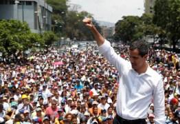 Juan Guaidó reaparece em manifestação em Caracas e convoca greve