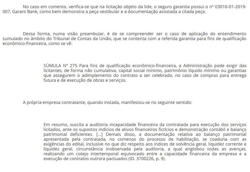 5 - EFICÁCIA RESTABELECIDA: Juiz libera pagamento da Cagepa à empresa vencedora de licitação