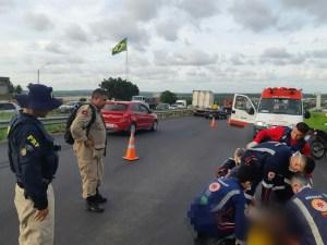 71784865 aac9 4164 8357 b04bae72facf 300x225 - INCIDENTE: homem é atropelado ao tentar atravessar BR próximo à passarela de pedestres, em Santa Rita