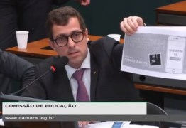 TEMPO FECHOU: Gervásio Maia rasga print com dados pessoais de Tabata Amaral na frente de ministro da Educação – VEJA VÍDEO