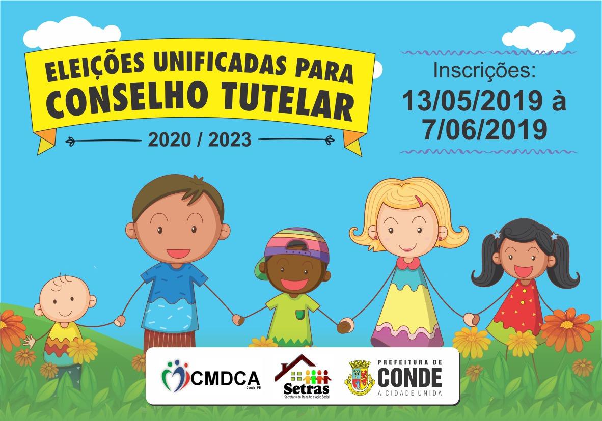 Conselho Tutelar Conde - Conde abre inscrições para processo de escolha dos membros do Conselho Tutelar do município