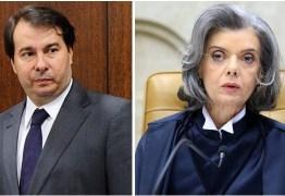 VISITA AO NORDESTE: Rodrigo Maia e Carmen Lúcia participam de evento em João Pessoa