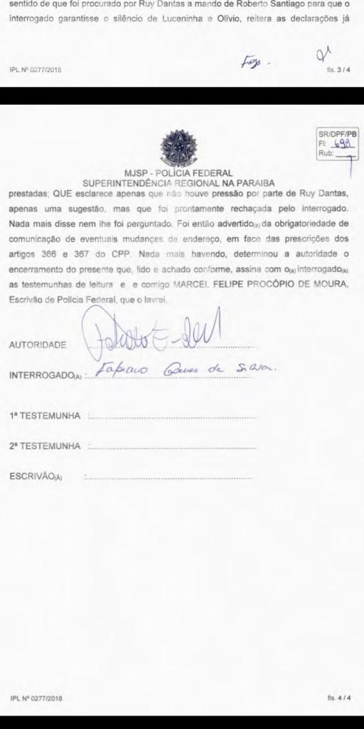 Screenshot 20190518 104407 512x1024 - EXCLUSIVO: Advogado diz que Fabiano Gomes revelou para Polícia Federal que Roberto Santiago não pressionou testemunhas - VEJA TODO O DEPOIMENTO