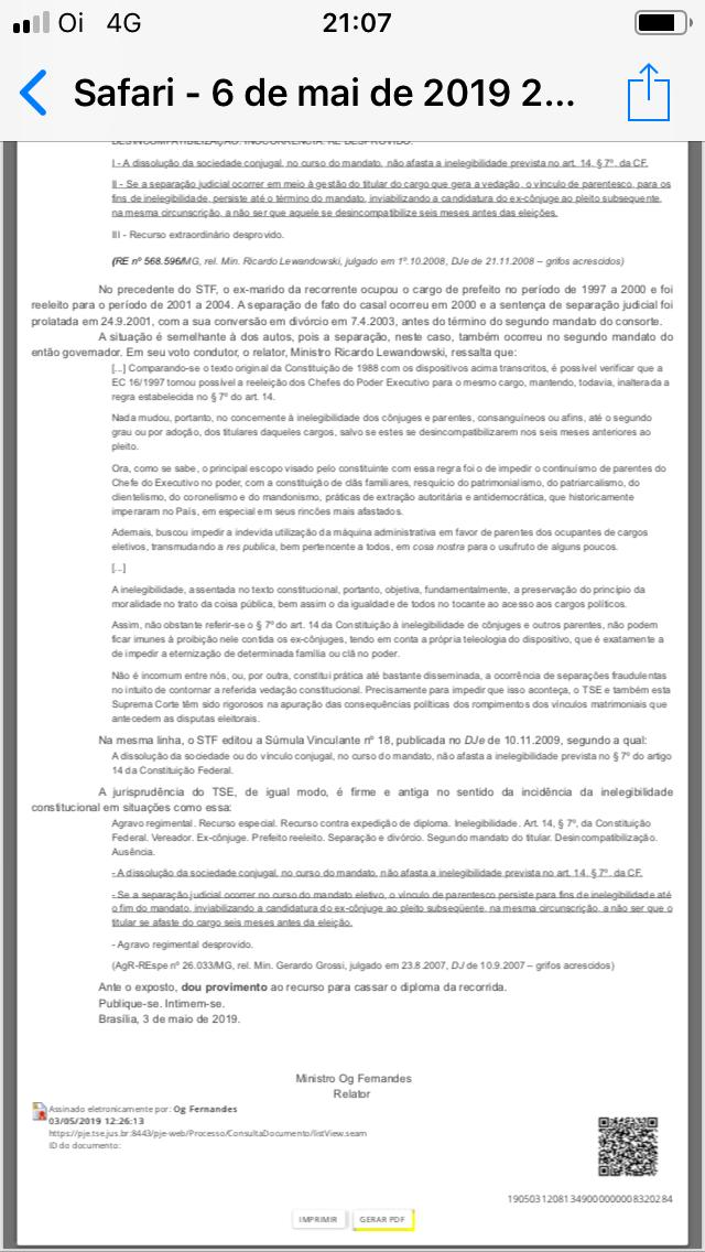 WhatsApp Image 2019 05 06 at 21.07.47 - EXCLUSIVO: TSE cassa diploma da ex-primeira dama Pâmela Bório e ela perde a segunda suplência