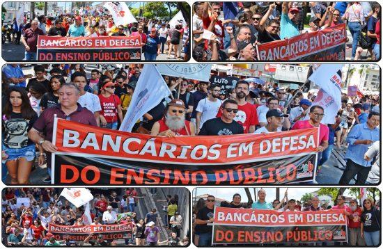 WhatsApp Image 2019 05 15 at 19.17.48 - Bancários vão às ruas em defesa do ensino público e contra a Reforma da Previdência