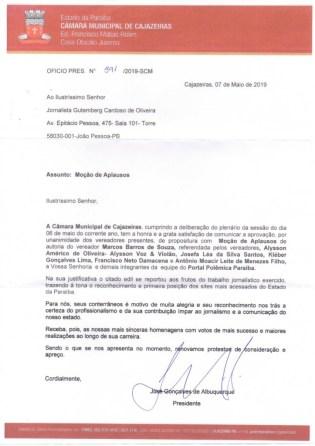 WhatsApp Image 2019 05 22 at 12.05.57 212x300 - Câmara Municipal de Cajazeiras aprova voto de aplausos ao portal Polêmica Paraíba