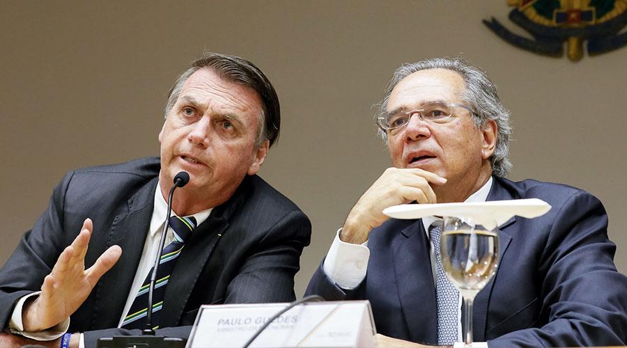bolsonaro paulo guedes - Governo Federal anunciará novos bloqueios no Orçamento na quarta-feira