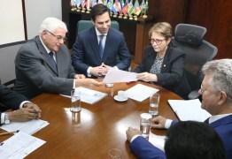 Efraim Morais participa de reunião com a ministra da Agricultura Tereza Cristina