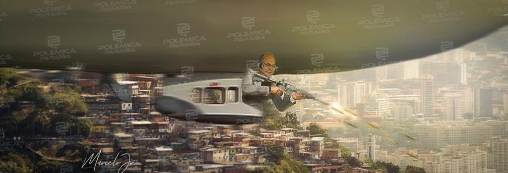 montagem452 1024x350 - O TERROR QUE VEM DO CÉU! No Rio, governador sobrevoa Angra e manda chover balas sobre moradores! - Por Francisco Airton