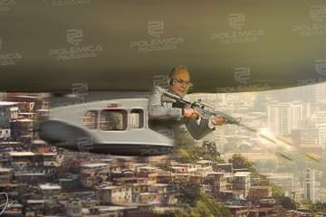 montagem452 - O TERROR QUE VEM DO CÉU! No Rio, governador sobrevoa Angra e manda chover balas sobre moradores! - Por Francisco Airton